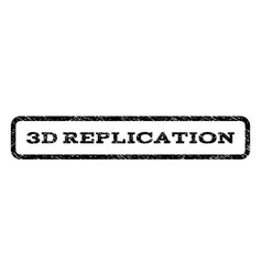 3d replication watermark stamp vector image