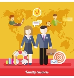 Balance Between Business Work and Family Life vector image vector image