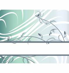 floral banner background vector image vector image