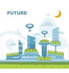 Future city landscape concept modern vector