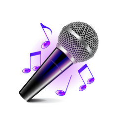 Karaoke icon isolated on white vector image