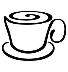 Stylized cup of coffee or tea vector image