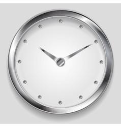 Abstract metallic clock design vector image vector image