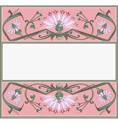 Art-nouveau frame vector image