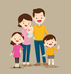 cute family with baby vector image vector image