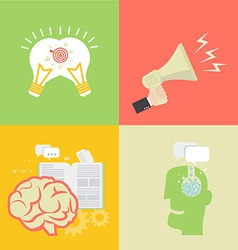 Element of idea icon in flat design vector image vector image