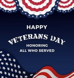 Happy Veterans Day Background vector image vector image