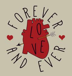 heart with arrow love card vector image