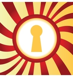 Keyhole abstract icon vector