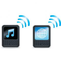 music internet vector image