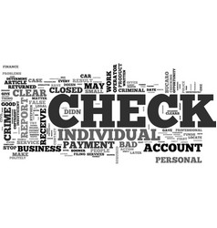 what to do when you receive a bad check text word vector image
