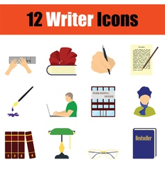 Writer icon set vector image vector image