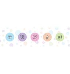 5 alert icons vector