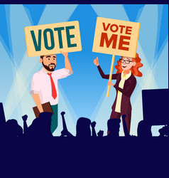 Agitation and call to vote female and male vector