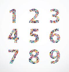 Alphabet Circle color point style set vector