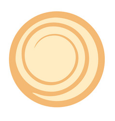 Biscuit flat vector