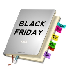Black friday sale background with planning vector image