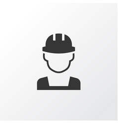 builder icon symbol premium quality isolated vector image