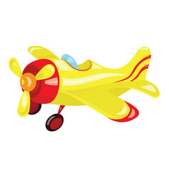 Cartoon airplane plastic toy for children flying vector