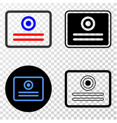 Certificate eps icon with contour version vector