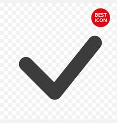 check mark icon choice button sign checklist vector image