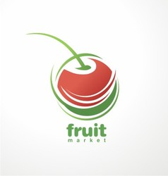 Cherry logo vector