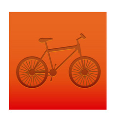 Color background with carved bike vector