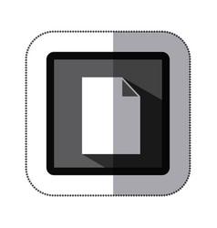 contour white paper icon vector image