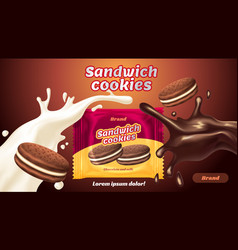 Cookies sandwich vector