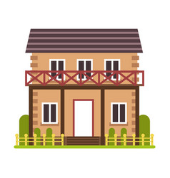 country house or cottage residential building vector image