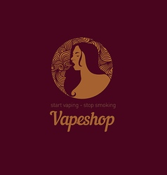Creative logo for the shop or bar vape vector image