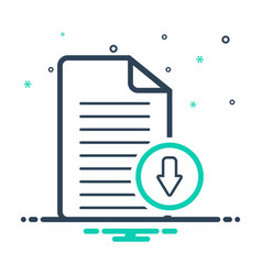 Document download app vector