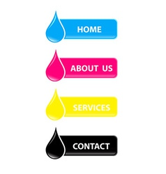 drop cmyk web buttons vector image