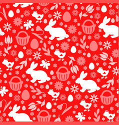 easter symbols pattern seamless vector image