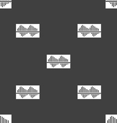 Equalizer icon sign Seamless pattern on a gray vector