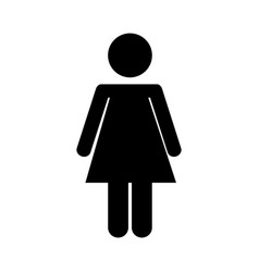 Female figure silhouette icon vector