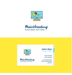flat computer presentation logo and visiting card vector image