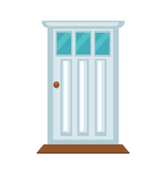 front door with three small glasses and brown vector image