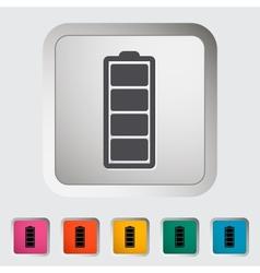 Full battery vector image