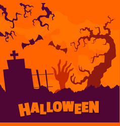 Happy halloween concept background flat style vector
