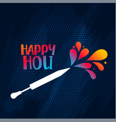 Happy holi festival background with color splash vector