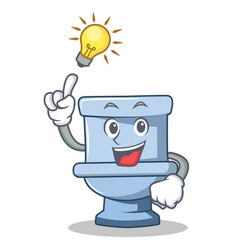 Have an idea toilet character cartoon style vector