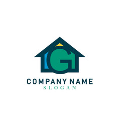 Home letter g logo vector
