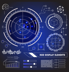 Hud futuristic technology display element set vector