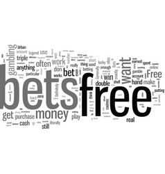 Improve odds with free bets vector