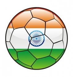 India flag on soccer ball vector