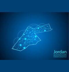 Jordan map with nodes linked by lines concept of vector