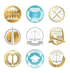 Law office logo set vector image