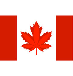 legalization cannabis hemp on canada flag vector image
