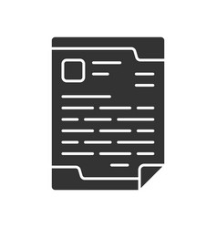 Letterhead official document glyph icon business vector